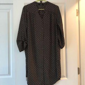 Mid length geoprint T-shirt dress
